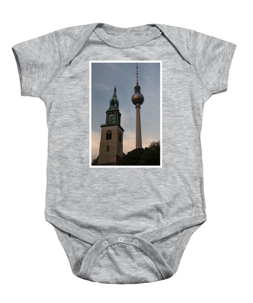 Two Towers In Berlin Baby Onesie