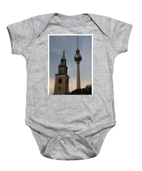 Two Towers In Berlin Baby Onesie
