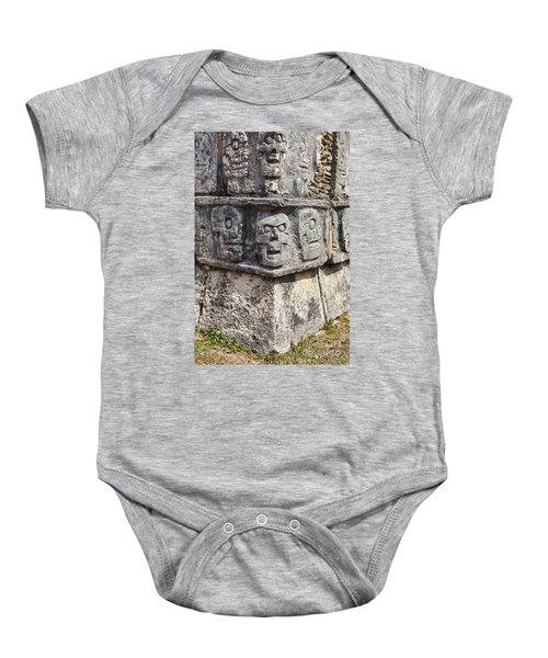 Tzompantli Or Platform Of The Skulls At Chichen Itza Baby Onesie