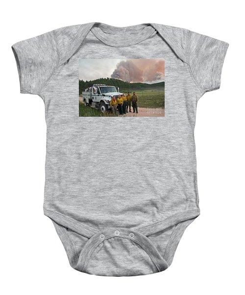 Umpqua Engine 25 On Myrtle Fire Baby Onesie