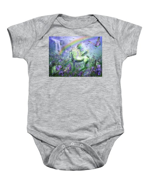 Unicorn Of The Butterflies Baby Onesie