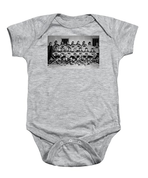University Of Michigan Hockey Team 1947 Baby Onesie by Mountain Dreams
