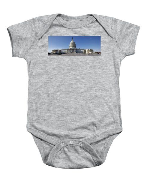 Us Capitol Panorama Baby Onesie