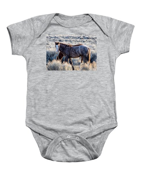 Velvet - Young Colt In Sand Wash Basin Baby Onesie