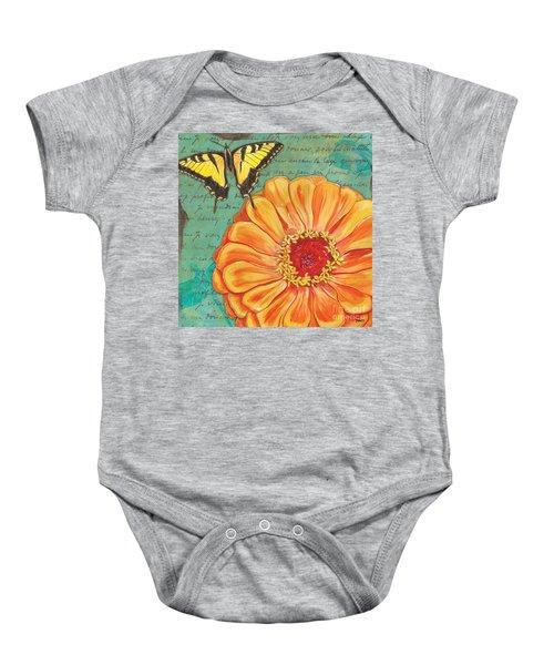 Verdigris Floral 1 Baby Onesie