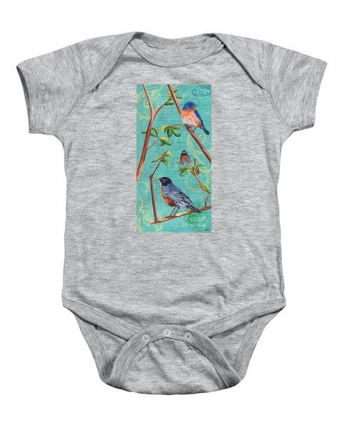 Verdigris Songbirds 1 Baby Onesie