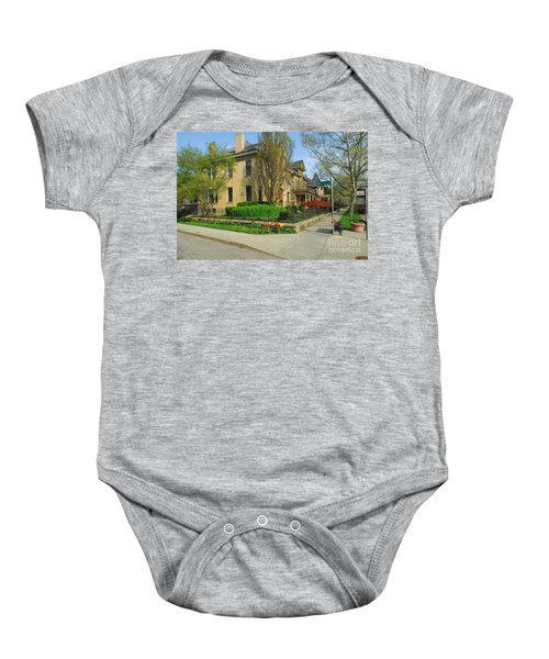 D47l-15 Victorian Village Photo Baby Onesie