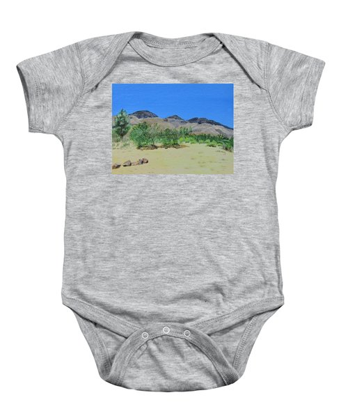 View From Sharon's House - Mojave Baby Onesie