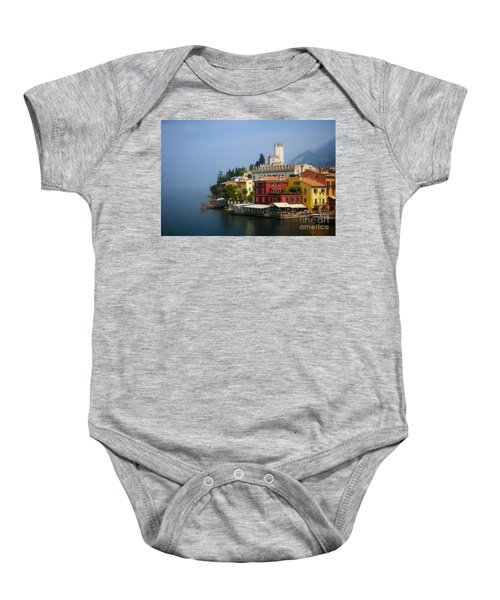 Village Near The Water With Alps In The Background  Baby Onesie
