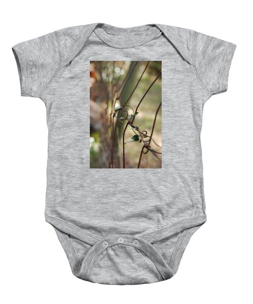 Vine On Rusted Fence Baby Onesie