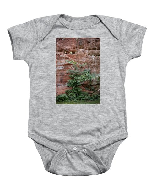 Vines And Canyon Walls Baby Onesie