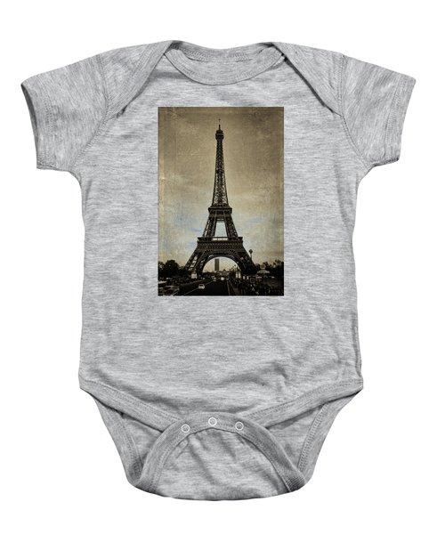 Vintage Eiffel Bronze Baby Onesie