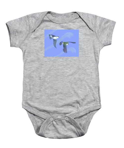 Violet-green Swallows Baby Onesie