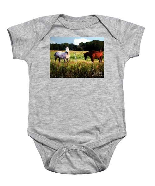 Waiting For Apples Baby Onesie