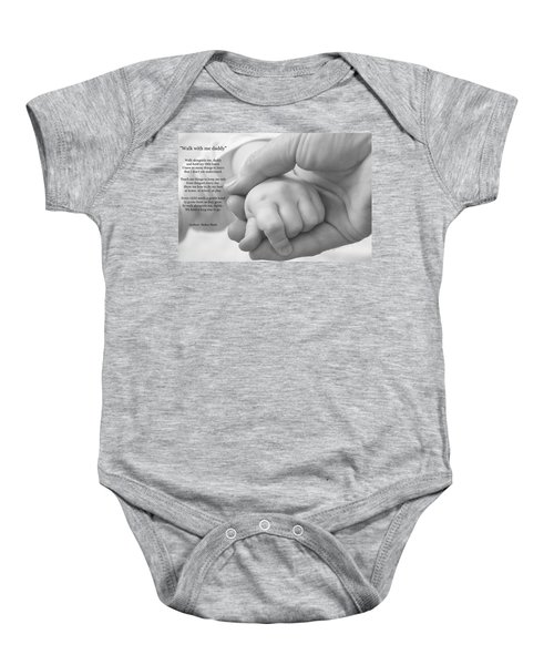 Walk With Me Daddy Baby Onesie