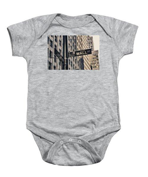 Wall Street Sign Baby Onesie