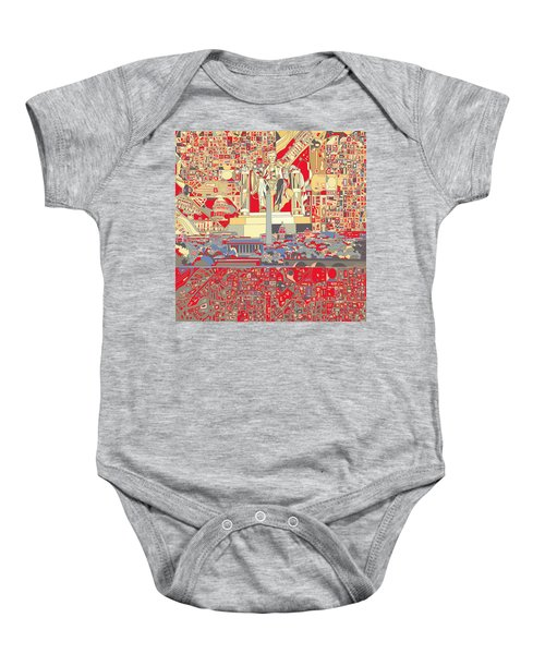 Washington Dc Skyline Abstract 6 Baby Onesie