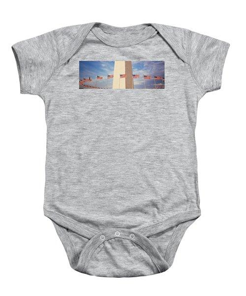 Washington Monument Washington Dc Usa Baby Onesie by Panoramic Images