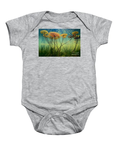 Water Lilies Baby Onesie