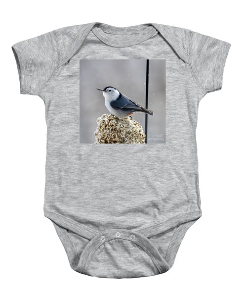 White-breasted Nuthatch Baby Onesie