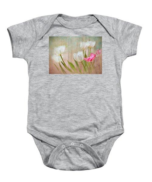 White Lily Show Baby Onesie