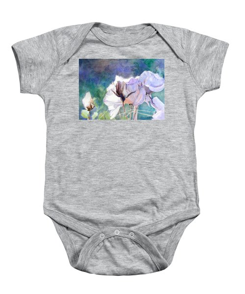 White Roses In The Shade Baby Onesie
