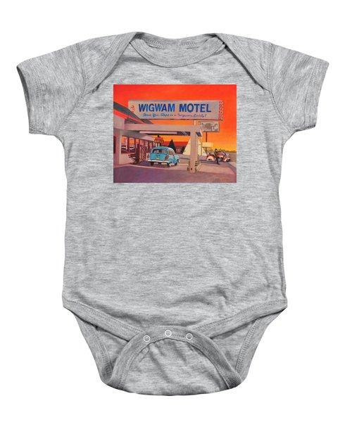 Wigwam Motel Baby Onesie