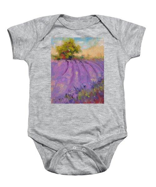 Wildrain Lavender Farm Baby Onesie