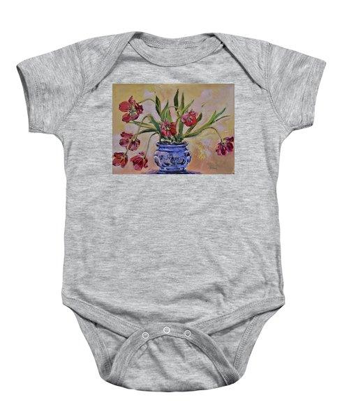 Wilting Tulips Baby Onesie