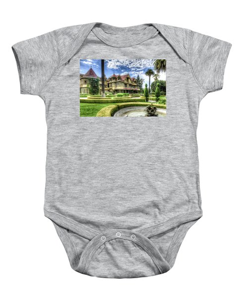 Baby Onesie featuring the photograph Winchester Mystery House by Jim Thompson