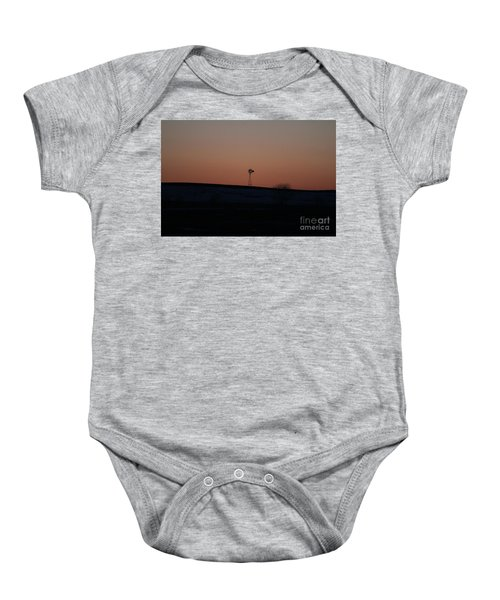 Windmill At Sunset Baby Onesie