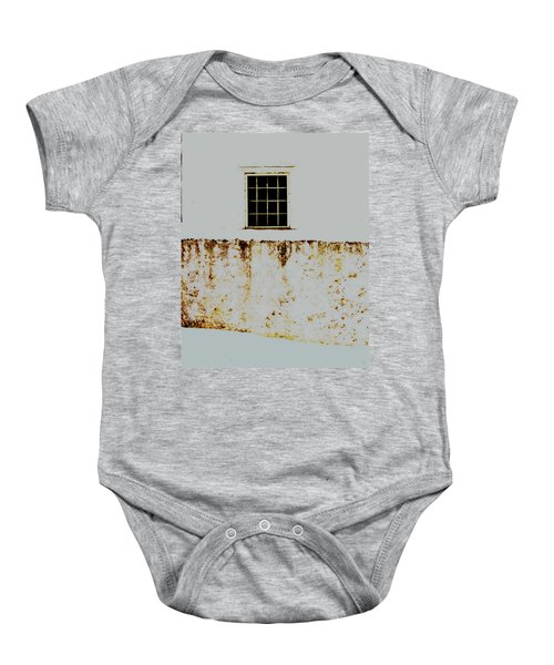 Window Wall And Snow Baby Onesie