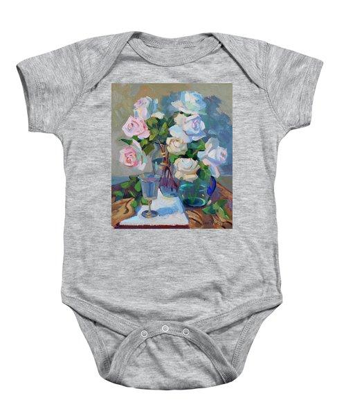 Wine And Roses Baby Onesie
