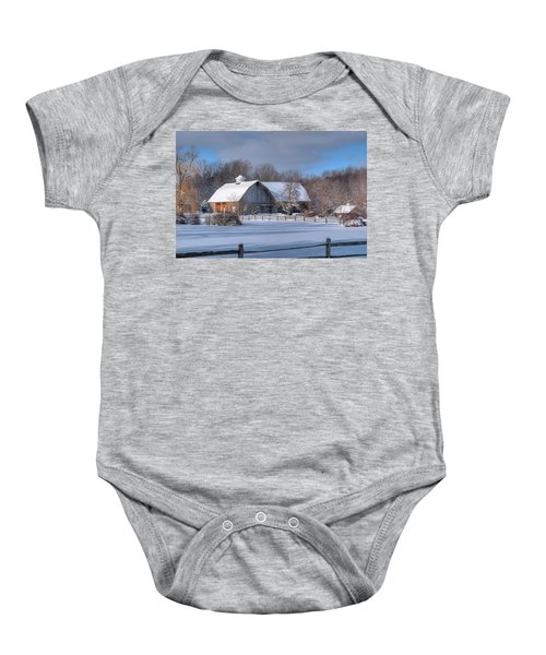 Winter On The Farm 14586 Baby Onesie