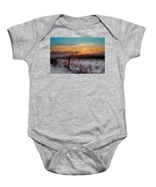 Winter Sunrise Baby Onesie