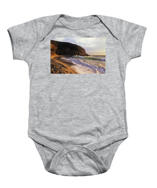 Winter Swells Strands Beach Baby Onesie