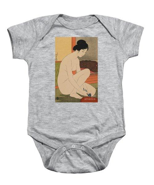 Woman Bathing Taisho Era Baby Onesie