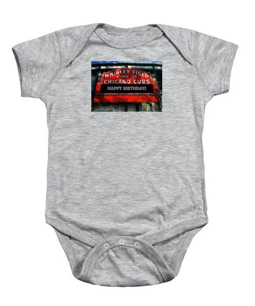 Wrigley Field -- Happy Birthday Baby Onesie