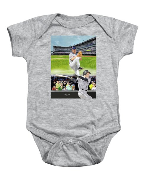 Yankees Vs Indians Baby Onesie