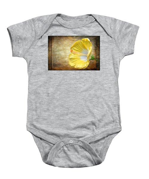 Yellow Hibiscus Baby Onesie