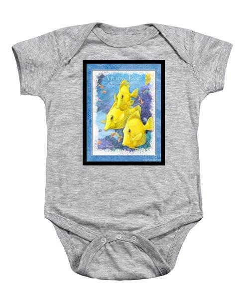 Yellow Tang Baby Onesie