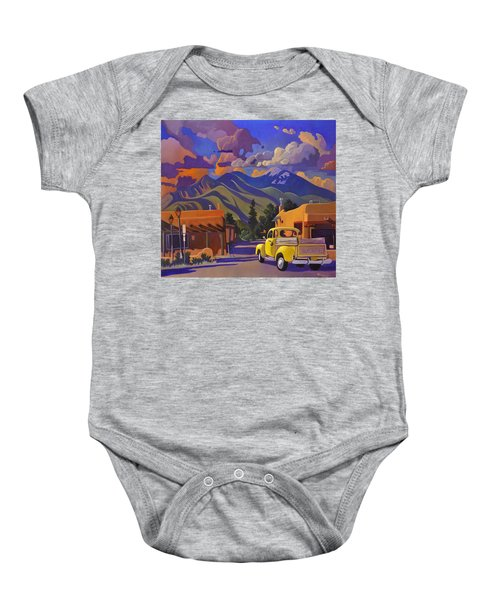 A Yellow Truck In Taos Baby Onesie