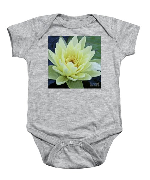 Yellow Water Lily Nymphaea Baby Onesie