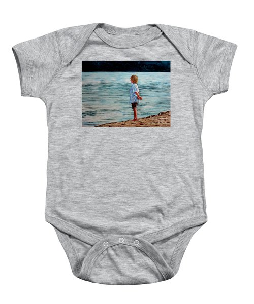 Young Lad By The Shore Baby Onesie