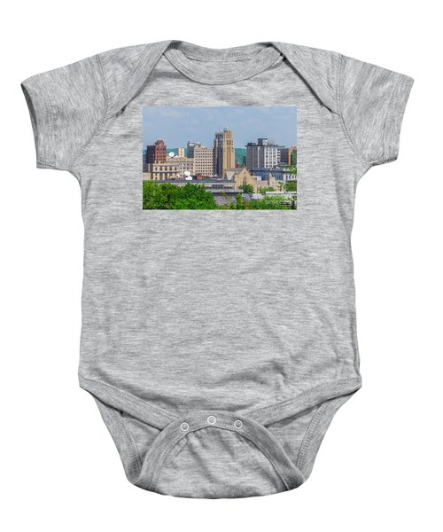 D39u-2 Youngstown Ohio Skyline Photo Baby Onesie