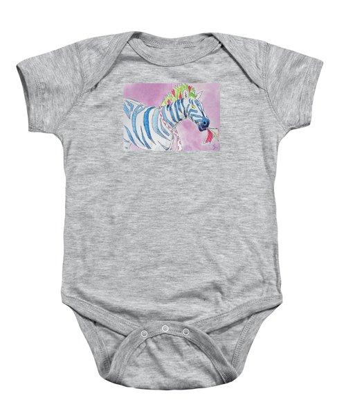 Zebra Cartoon Baby Onesie