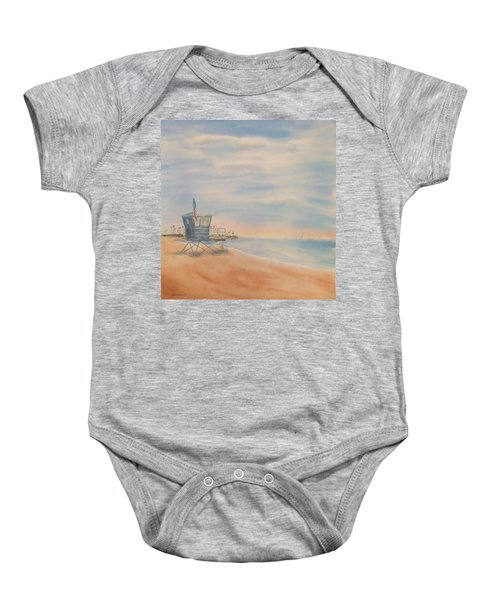 Morning By The Beach Baby Onesie