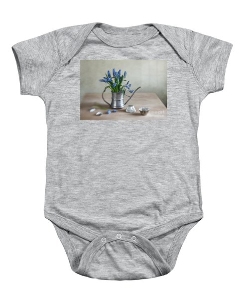 Still Life With Grape Hyacinths Baby Onesie