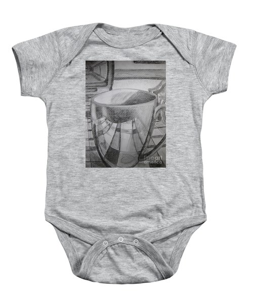 A Cup Of Reflections Baby Onesie
