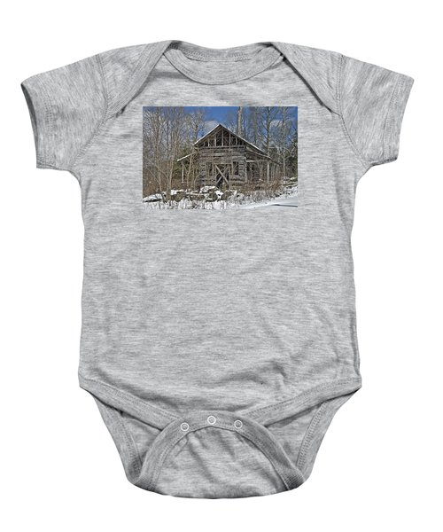 Abandoned House In Snow Baby Onesie